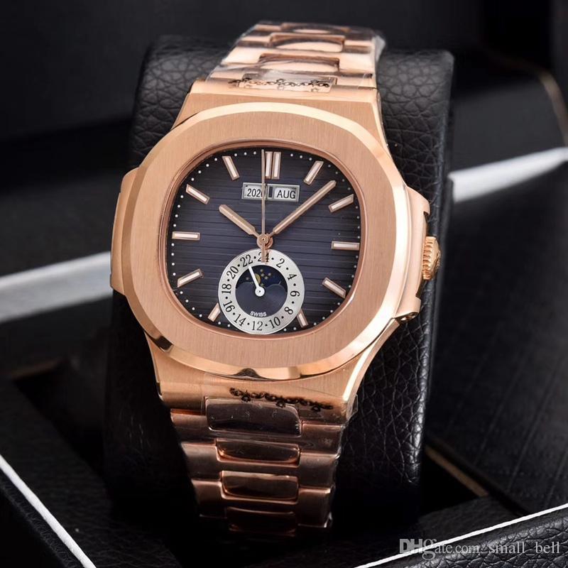 1c06e6b3a6f Compre Direto Da Fábrica Novos Produtos AAA Homens Rosa De Ouro De Aço  Inoxidável Relógio Multifuncional 2813 Cadeia Mecânica Automática 41mm  Relógio De ...