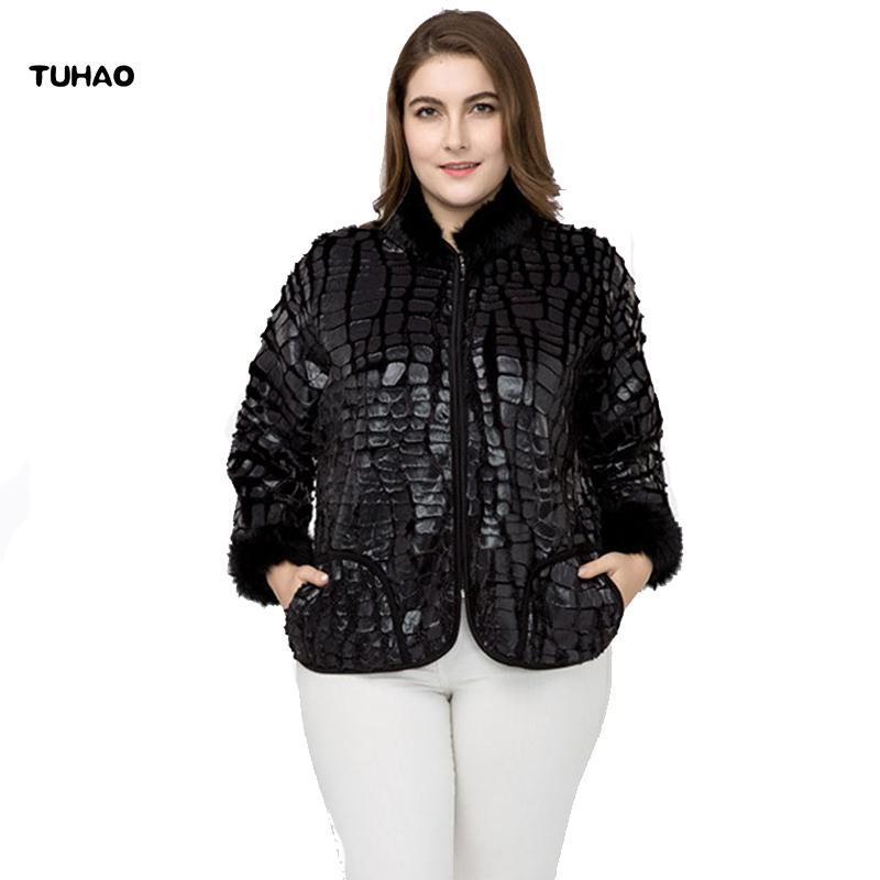 2019 TUHAO Plus Size 7XL 6XL Women Faux Fur Coats 2018 Autumn Winter Fur  Sleeve Stand Collar Faux Large Size Women Jackets COAT ZPZ D18110805 From  Shen8403 e08dca26f74f