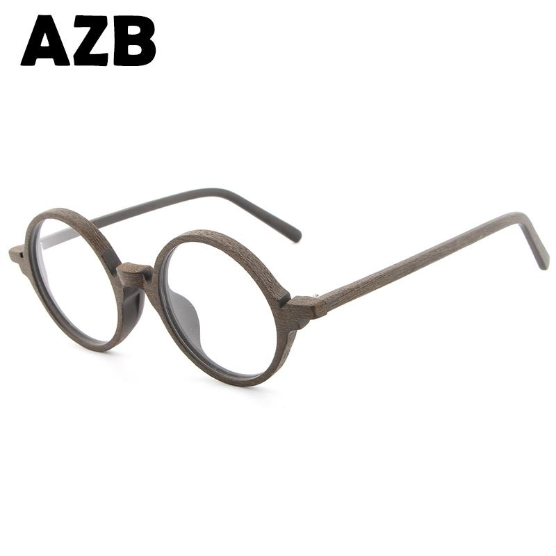 AZB2017 new retro wood sunglasses men's bamboo sunglasses ladies brand design optical frames flat glass glasses