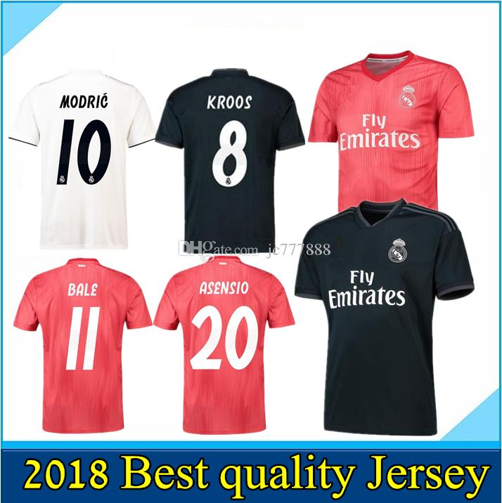 2019 Champions League Soccer Jersey 18 19 Real Madrid Home Soccer Camiseta    7 RONALDO   8 KROOS   22 ISCO Uniforme De Fútbol Third Maillot De Foot  Por ... 56058d2143cd2