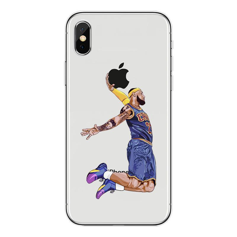 quality design d14b0 74393 Wholesale Fashion Basketball All-Star Painted Phone Case for IphoneX 8Plus  7Plus 6sPlus 8/7/6s 5/5s/se Creative Cool Basketball Star Case