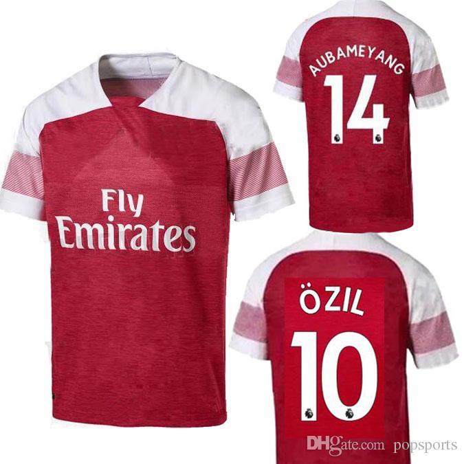 06b18ea7c96 2018 2019 Arsenal Gunners OZIL AUBAMEYANG Soccer Jersey ALEXIS ...