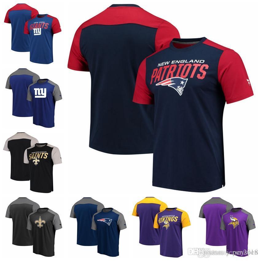 hot sale online c3b2d 25a8f Color block New York Giants New Orleans Saints Englan Patriots Minnesota  Vikings Pro Line by Fanatics Branded Iconic Color Blocked T-Shirt