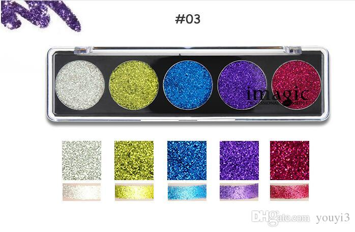 New Product IMAGIC Eye Shadow Glitter Sequins Stage Makeup Party Makeup COS Flash Powder Eye Shadow wholesale