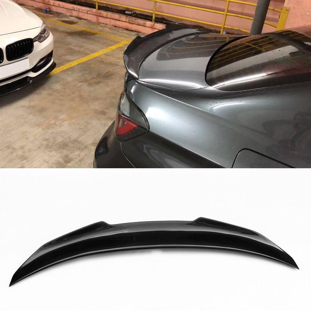2019 Car Style Carbon Fiber Glossy Car Auto Rear Spoiler Trunk Wings