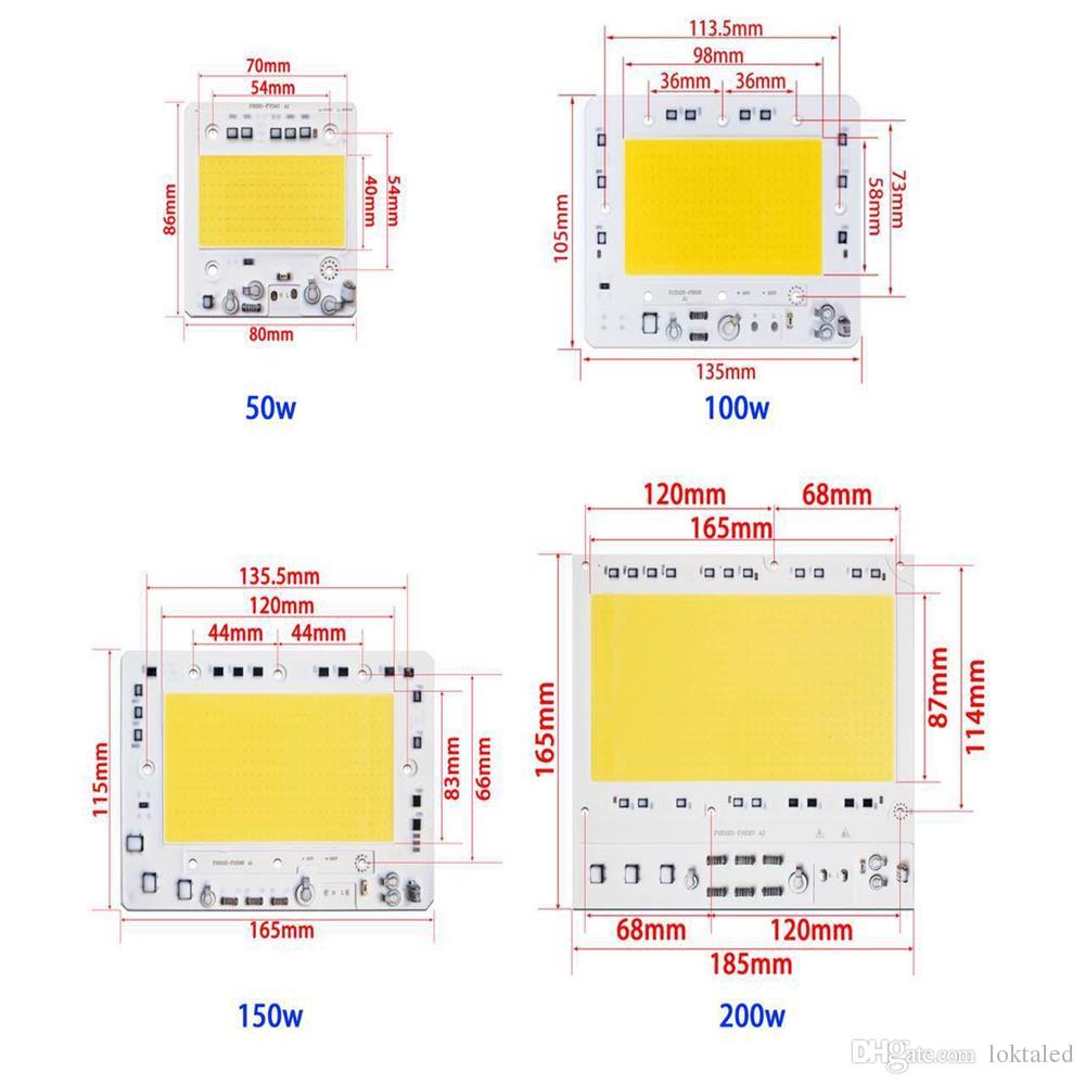 Led 50w 110v Wiring Diagram Not Lossing Diy 2018 Ac220v Cob Chip 100w 150w 200w No Driver For Rh Dhgate Com High Bay 280007120v