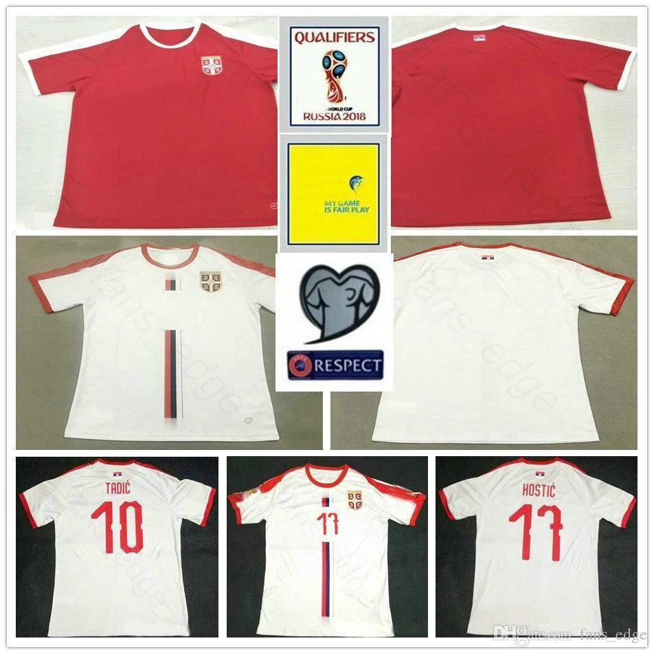 8268be6a1 2019 2018 Serbia World Cup Jerseys 9 MITROVIC 10 TADIC 11 KOLAROV 20 SERGEJ  21 MATIC KOSTIC IVANOVIC Custom Red White Soccer Football Shirt From  Chen shop