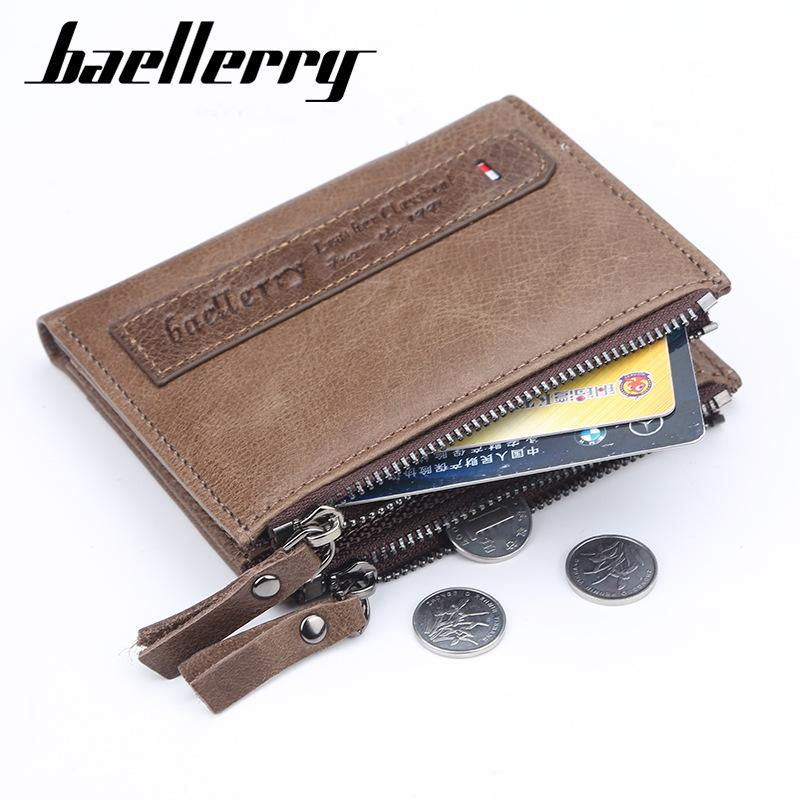 38a401513 Two Colors Short Wallet Men Real Leather Multifunctional Billetera Hombre  Large Capacity Multiple Card Holder Womens Credit Card Wallet Branded  Wallet From ...