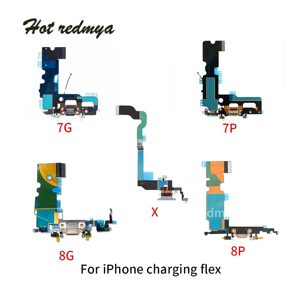 100 Original New For Iphone 7 Plus Charging Port Usb Charger Dock Wire Diagram Connector With Microphone Antenna Flex Cable 8 Dhl