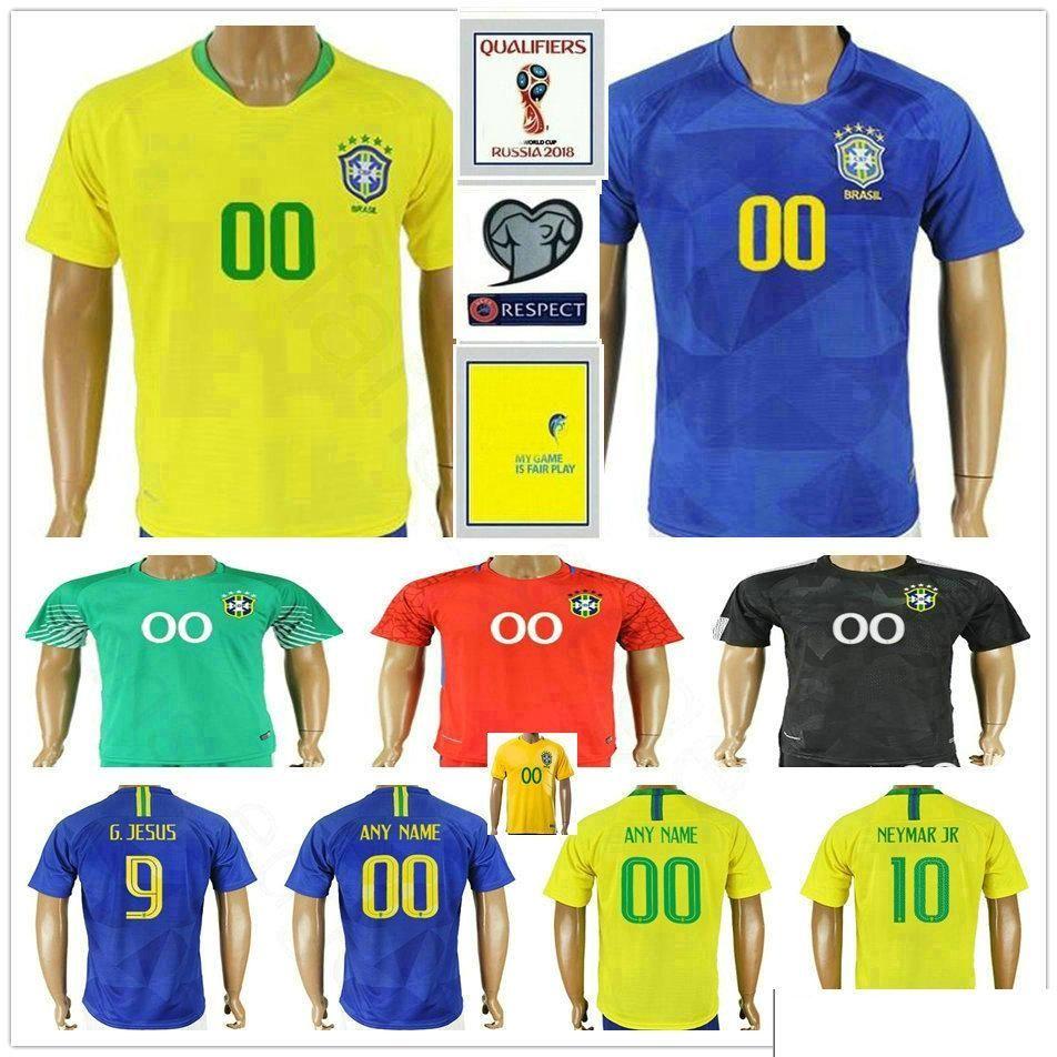 2015 2016 brazil soccer jersey uniform short sleeves yellow 10 pele 2018 world cup brazil soccer jer