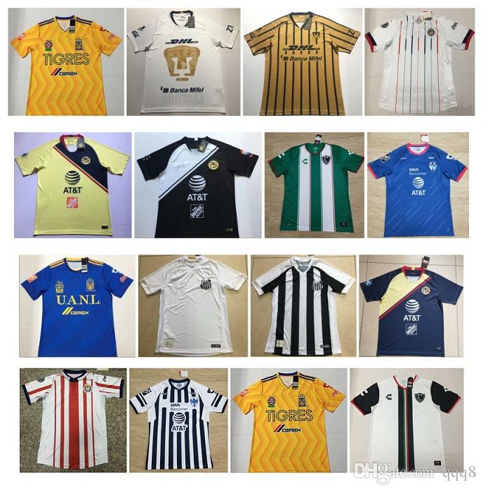 on sale 52d8b 9be4a 2018 2019 Mexico Liga MX CHIVAS Guadalajara Club America UNAM TIGRES  Monterrey Cougar Soccer Jerseys 18 19 Cuervos Football Shirts uniform