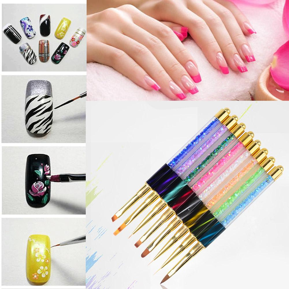 Wholesale Crystal Acrylic Nail Art Gel Painting Pen Brush Rhinestone ...