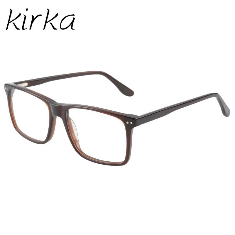1a5b326b293d 2019 Kirka Classic Men Eyewear Frame Brown Acetate High Level Quality  Glasses Frames Men Nail Decoration Optical Reading Glasses From Exyingtao
