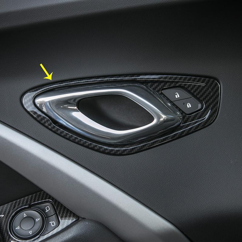 Chevrolet Camaro 2017 UP Otomobil İç Aksesuarlar için ABS Araba İç Kapı Kilidi Kol Dekorasyon Çerçeve