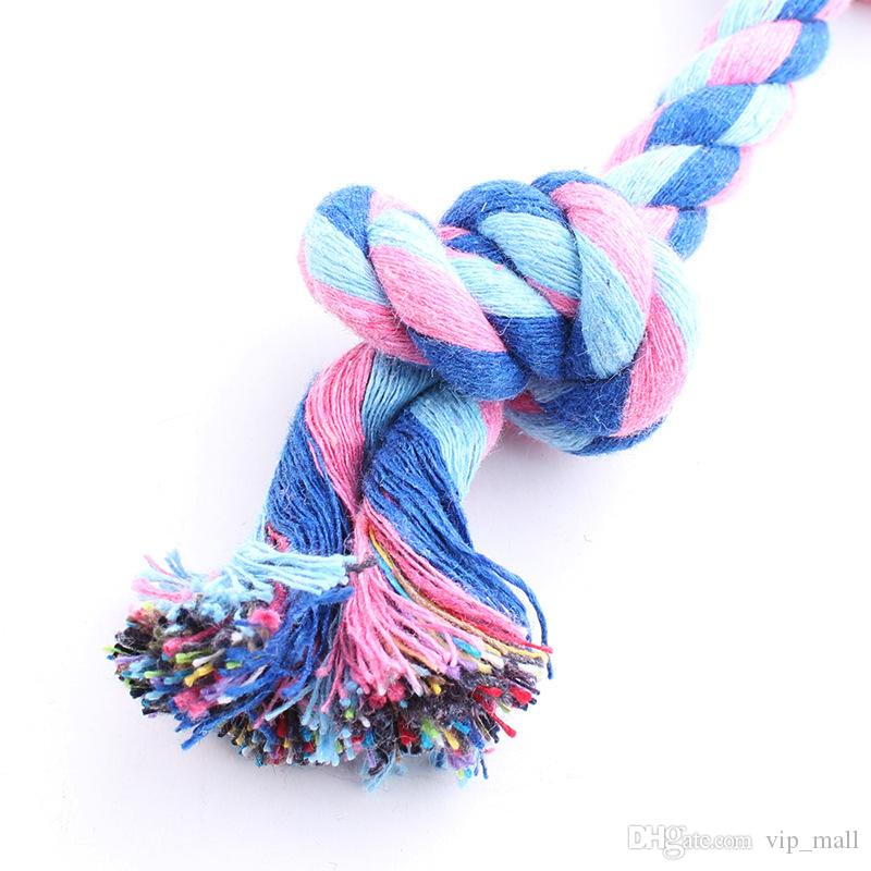 17CM Dog Toys Pet Supplies Pet Dog Puppy Cotton Chews Knot Toy Durable Braided Bone Rope Funny Tool B