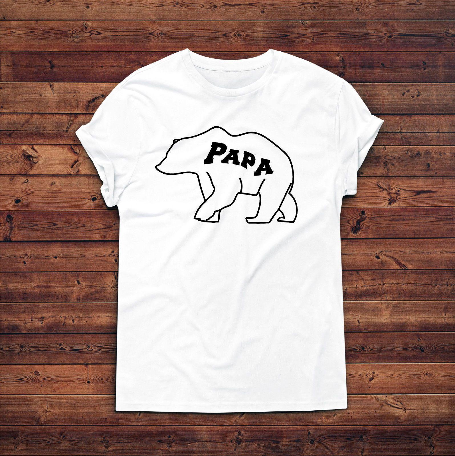 Papa Bear T ShirtGift For DadDaddy Birthday PresentNew Dad TshirtNew Daddy Funny Shirts Men Make From Shorttshirt 1572