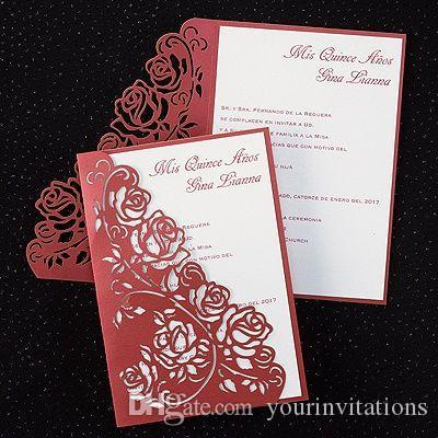 2016 new product from china regal roses invitation rose pattern