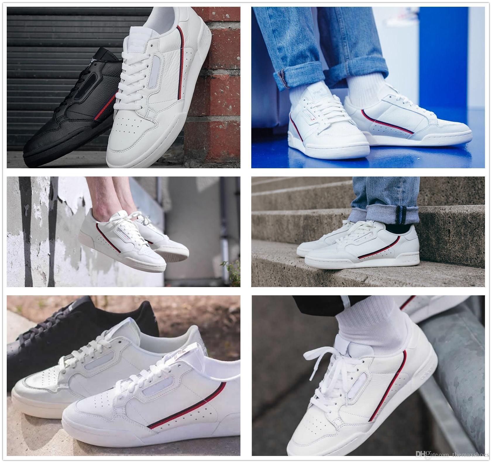74671e5a92 Compre Antiguidade AD Continental 80 Rascal Couro Sapatos Casuais OG Branco  Núcleo Preto Aero Azul Cinza Homens Moda Sapatilhas Zapatos Moda Sneakers  40 45 ...