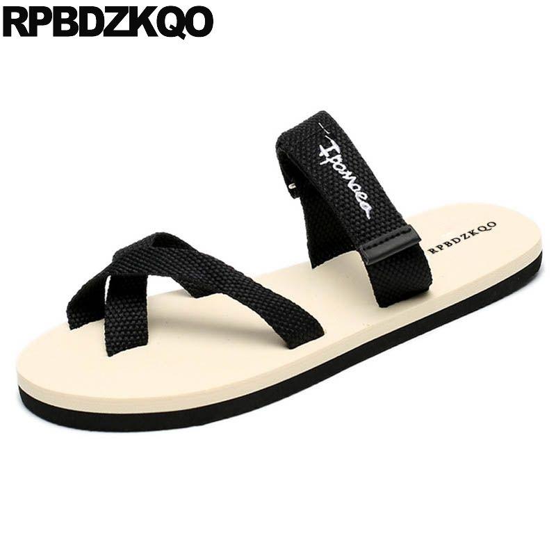 0d06edd87 Strap Beach Slides Toe Loop Flat Thong Slippers Flip Flop Designer Shoes Men  High Quality Summer Sandals Slip On Fashion 2018 Sandals For Men Jelly  Sandals ...