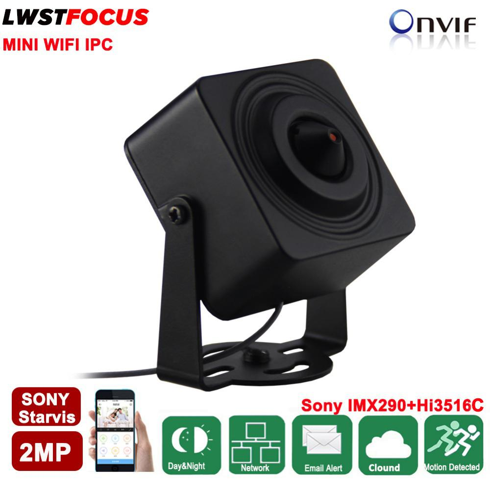 Sony Starvis IMX290 2MP Mini WIFI IP Camera 1080P Pinhole 3.7mm lens 2-Way Audio Alarm SD Card Slot H.265/H.264 ONVIF IP Camera