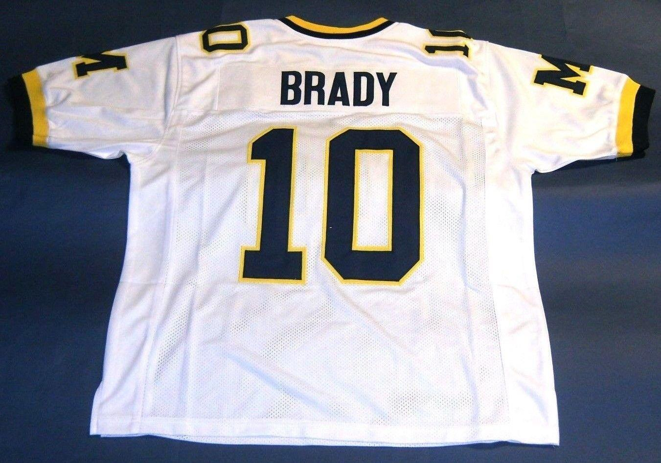 tom brady throwback michigan jersey