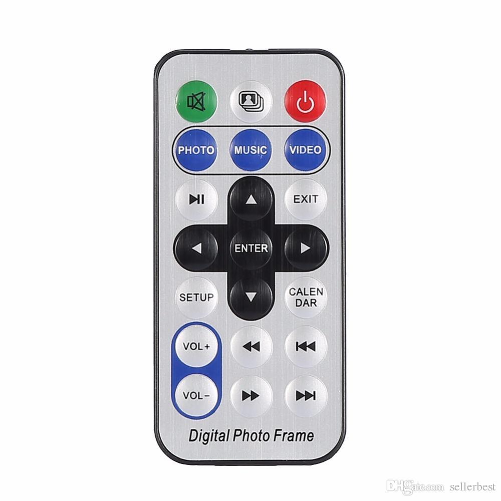 7 pollici Schermo 800X480 Full Function Digital Photo Frame Orologio Lettore video musicale con telecomando Cornice album elettronico