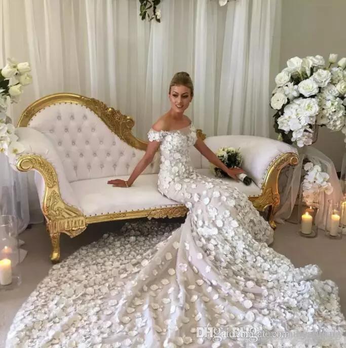 Grosshandel Luxus 2018 Neue Designer Mermaid Brautkleider