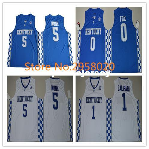 2019 Cheap Custom  5 Malik Monk  1 JOHN CALIPARI  0 De Aaron Fox  3 BAM  ADEBAYO Kentucky Wildcats College Basketball Jersey Any Name And Letter  From ... 2724e1b7c