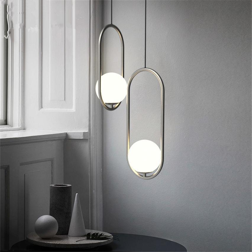 Compre Moderno Loft Lámparas Colgantes Luces Comedor Sala De Estar ...