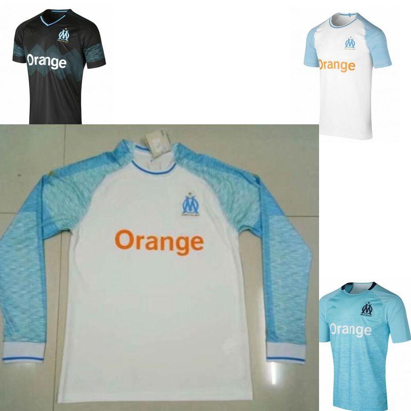 Olympique De Marseille Soccer Jersey 201819 OM Marseille Maillot De ... b1febda4a