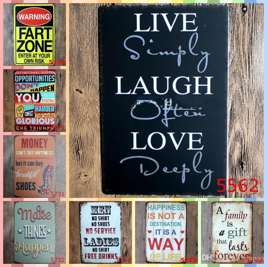 LIVE SIMPLY LAUGH OFTEN LOVE DEEPY 20*30cm Paint Metal Tin Signs ...