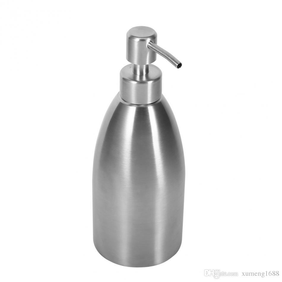 500ml Stainless Steel Soap Dispenser Kitchen Sink Faucet Bathroom ...