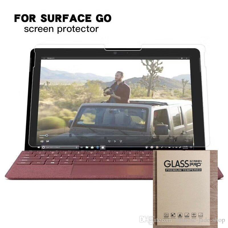 Tempered Glass Screen Protector For Microsoft Surface GO 10.1'' 10 inch TAB Tablet Protective Film 100pcs IN retail package