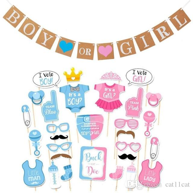 d4889db3b 2019 Baby Shower Party Decorations Boy Or Girl Gender Reveal Party ...