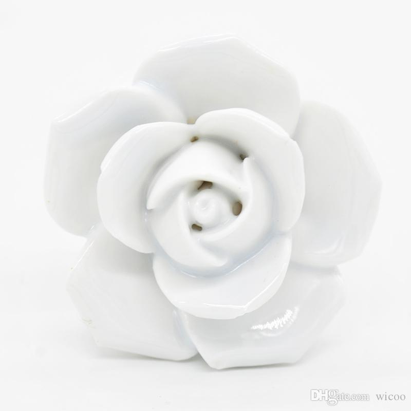 Topxome Flor Knobs Dresser Knobs Gaveta Puxa Alças / Puxadores de Cozinha Do Armário de Cerâmica