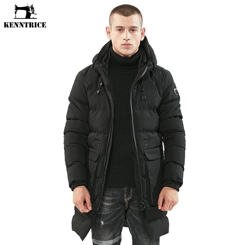 4c28e2ce04ece 2019 KENNTRICE Winter Jacket Men Parka Coat Male Hooded Overcoats Mens Long  Winter Jackets Coat Men Windproof Men S Windbreaker From Mackewan