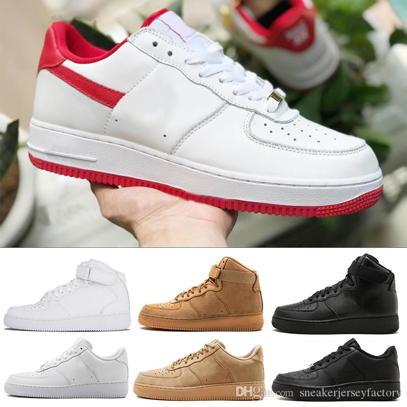 cheaper 6e79a 325d4 Zapatilla 1 One Designer Shoes Originales Fuerzas Baratas One Forceing 1  Hombres Mujeres Zapatos Casuales Clásico Low Red Diseñador Skate Skateboard  Unisex ...