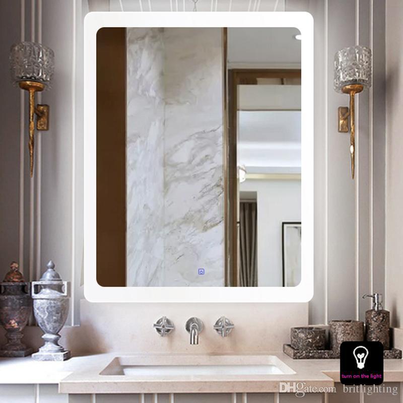 Tenture murale led miroir de salle de bains lampe de mur Intelligent  anti-brouillard toilettes miroir a conduit lampe cabine de montage  maquillage ...