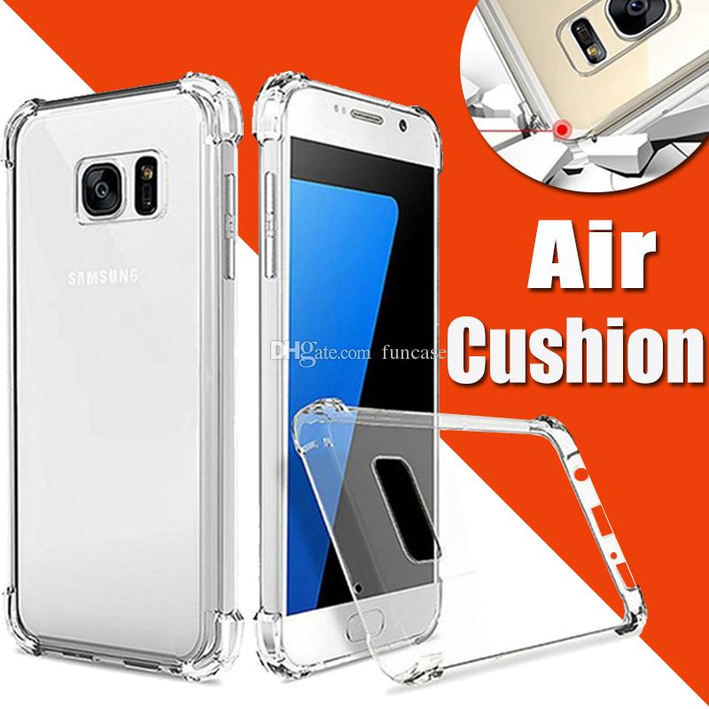 Air Cushion Clear Transparent Ultra Soft TPU Silicone Cover Case For Samsung S10 E S9 Plus S8 Note 10 10+ 9 8 M10 M20 M30 Shockproof