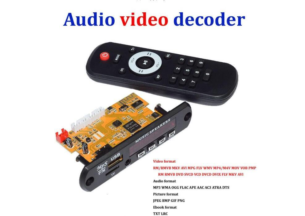 audio decoder Video Audio decoder DTS lossless decoding bluetooth receiver board 4 mp5 hd APE WAV 3 USB flash disk TF card