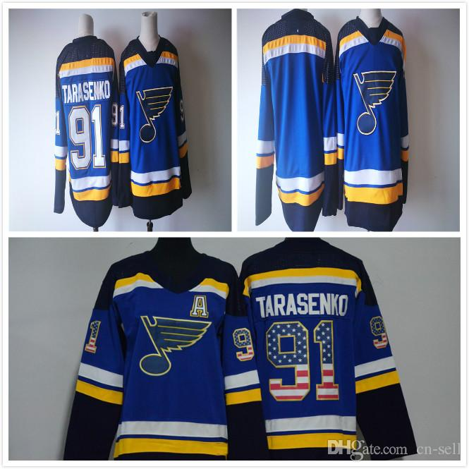 2019 2018 AD Mens St Louis Blues Stars Blank 91 Vladimir Tarasenko Mens  Womens Kids USA Flag Fashion Ice Hockey Jerseys From Cn Sell 665351b68b