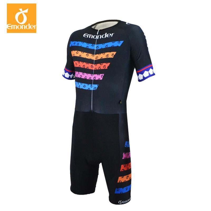 EMONDER Pro Team Triathlon Cycling Skin Suit Mens Bike Bicycle ... 3bdb148af