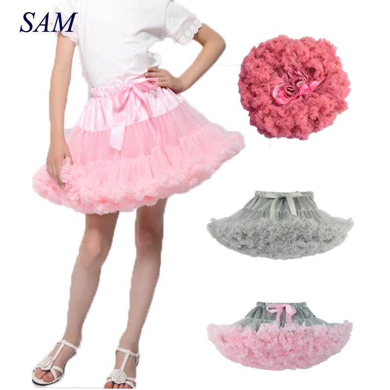 7a9c607f3 2019 Baby Girls Tutu Skirt Fluffy Children Ballet Kids Pettiskirt ...