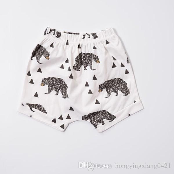 Pantaloni bambini in pp Pantaloni bambini Toddlers Boy Girl INS Animal Fox Tenda Ruote Pantaloni Fgure geometrici Pantaloncini Leggings 18 Design KA598