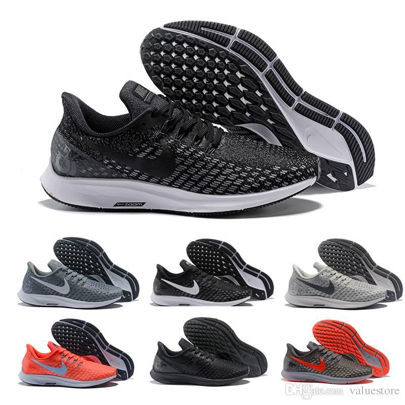 pick up af183 165bd Acheter Wholesale A1r Zoom Pegasus Turbo 35 Chaussures De Course Pour  Hommes Noir Blanc Originals Pegasus 35 Sneakers Formation Chaussures De  Jogging Taille ...