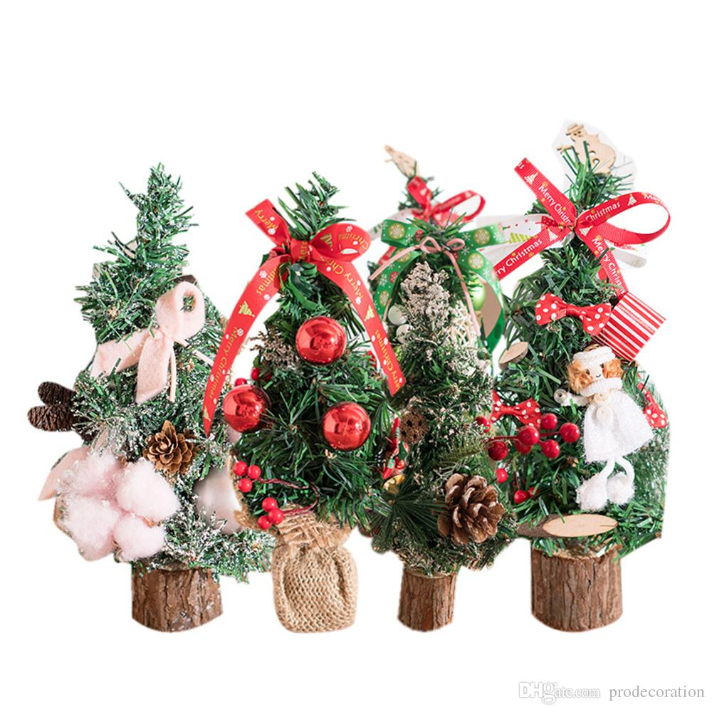 special mini christmas trees xmas decorations a small pine tree placed on desktop christmas festival ornaments for home office christmas holiday decorations - Mini Christmas Decorations