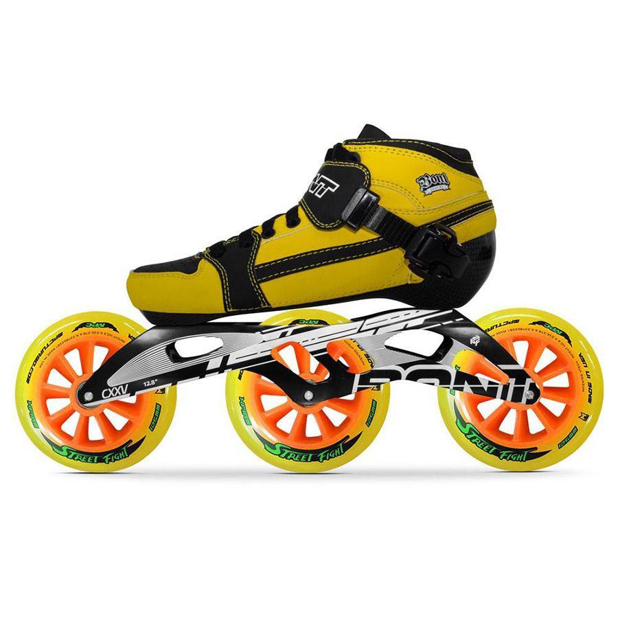 2018 100 Original Bont Pursuit 2pt 195mm 2pf Cxxv Speed Inline 11 Aggressive Skates Heatmoldable Carbon Fiber Boot Frame 3125mm Wheels Patines From Dinaha