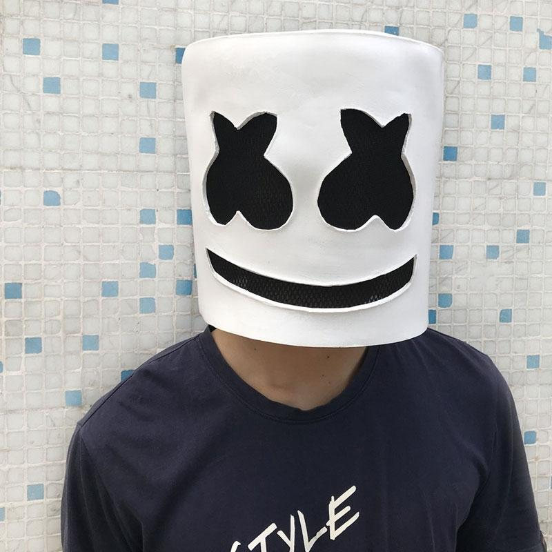maschera marshmello dj  Acquista Marshmallow DJ Copricapo Marshmello Maschera Copricapo COS ...