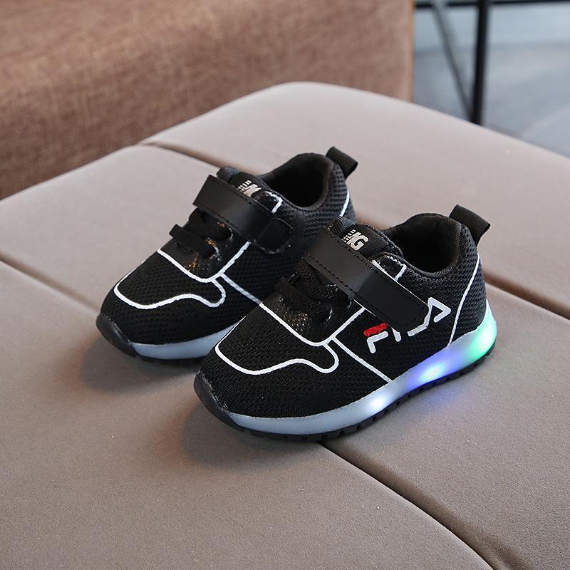 c6afd922193 Compre Nueva Marca Famosa Fantástica Tenis Infantil Gancho   Loop LED  Iluminación Bebé Niñas Zapatillas De Deporte Ventas Calientes Zapatos  Casuales De Bebé ...