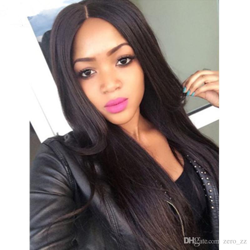 Unprocessed Virgin Full Lace Wigs Human Hair With Baby Hair 8A Bleached Knots Lace Front Ponytail Wigs Braziian Virgin Hair Wig For Women